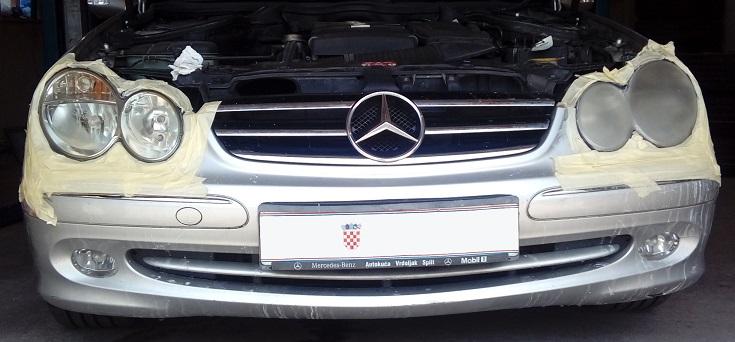 Mercedes polirani farovi